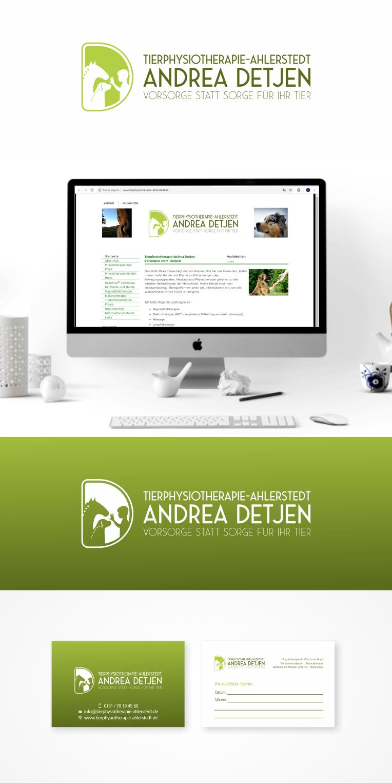 Logo Visitenkarte Für Tierphysiotherapie Logo Business