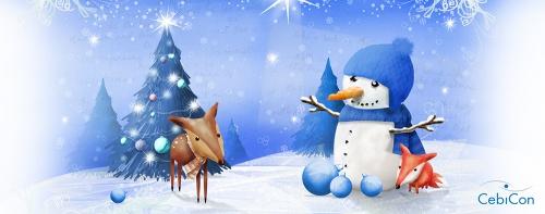Illustration für eine Weihnachtstasse