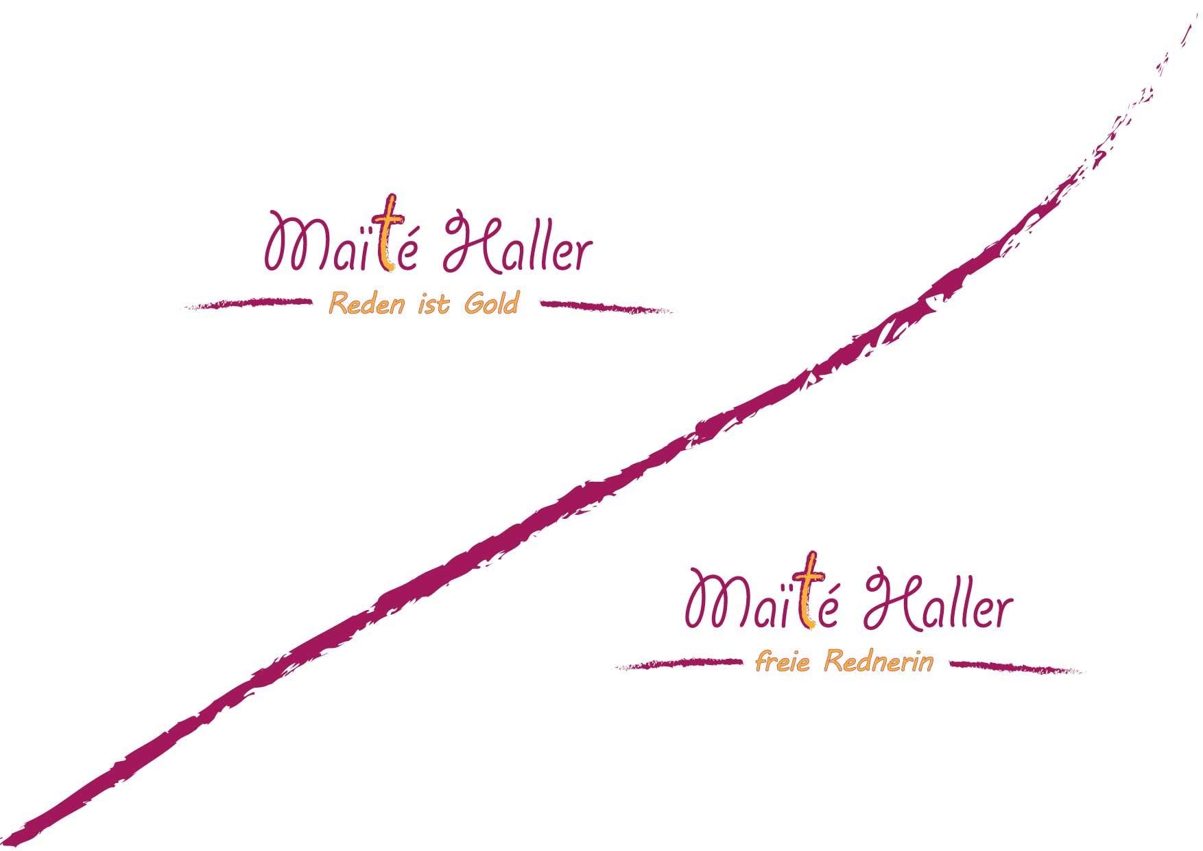 Logo-Design für freiberufliche Rednerin