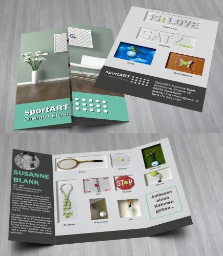 Flyer Für Kunstobjekte Im Bereich Tennis Und Gol Flyer Design