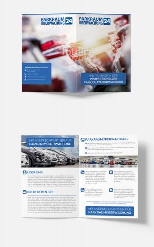 Flyer-Design für Parkraumüberwachungsunternehmen