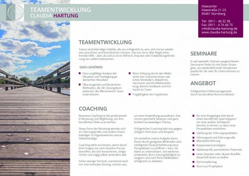 Flyer-Design für Werbeflyer Teamentwicklung/Coaching als pdf
