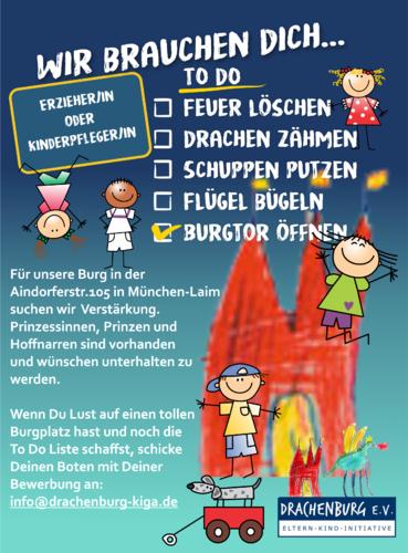 Plakat-Design für Kindergarten