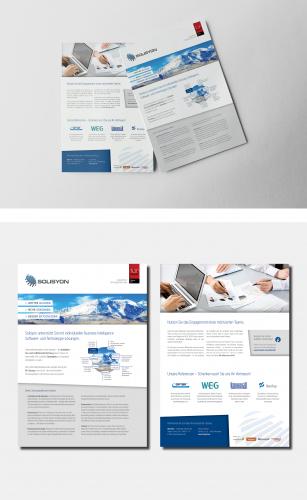 Vorlage für verschiedene Produkt-/Leistungsbesch.. » Flyer-Design ...