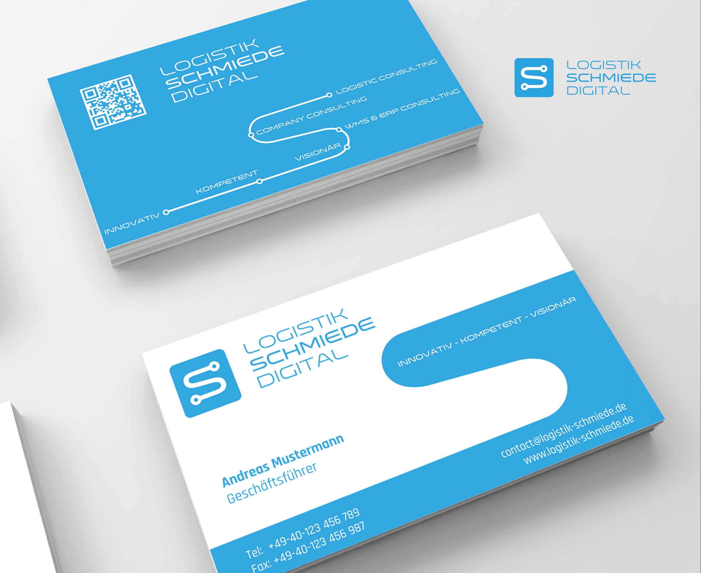 Logo Visitenkarte Für Logistik Schmiede Di Logo