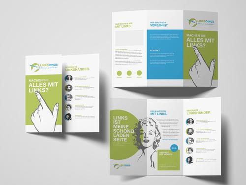Flyer-Design für Linkshänder-Versandhandel