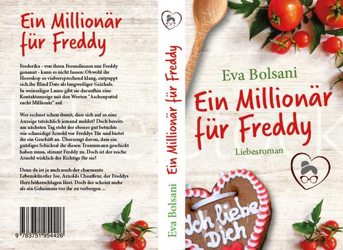 Buch-/E-Book-Cover für einen heiteren Liebesroman