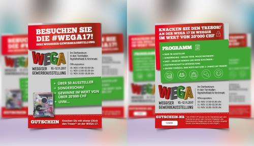 Flyer-Design für Gewerbeausstellung