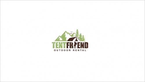 Logo-Design für Verleih von hochwertigen Zelten und Outdoor Ausrüstung