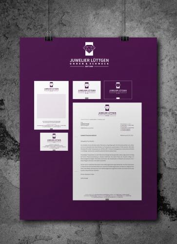 Cartes de visite, en-têtes de lettre, tickets de caisse pour Juwelier