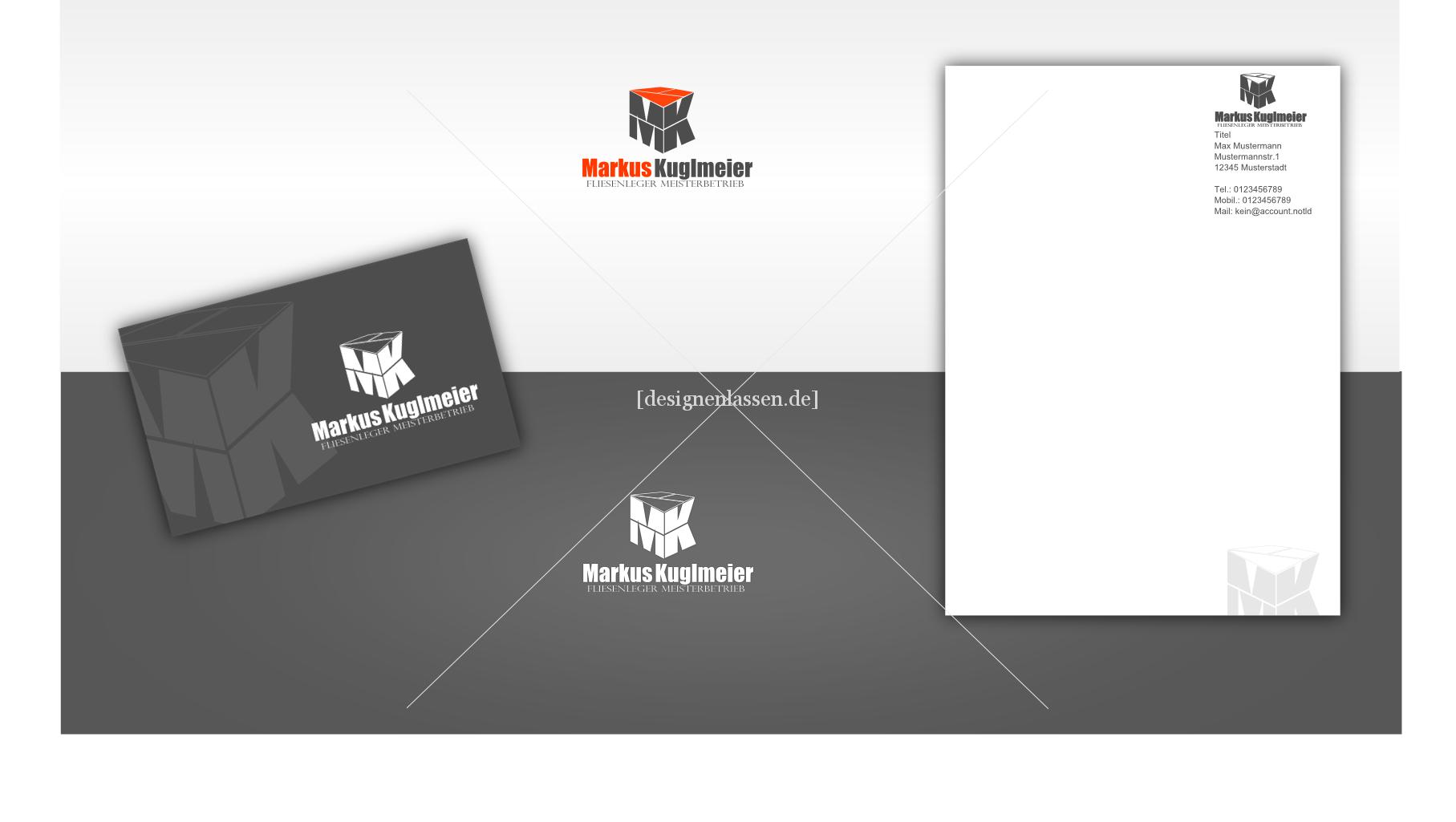 Junger Fliesenlegermeister Existenzgründer Su Logo
