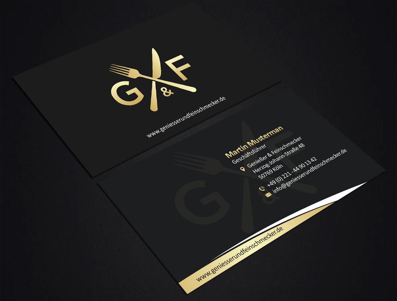 Visitenkarten Mit Schwarzem Design Gesucht Visitenkarten