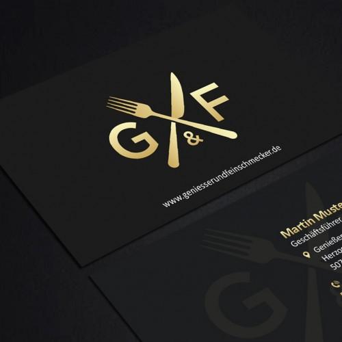 Visitenkarten mit schwarzem Design gesucht