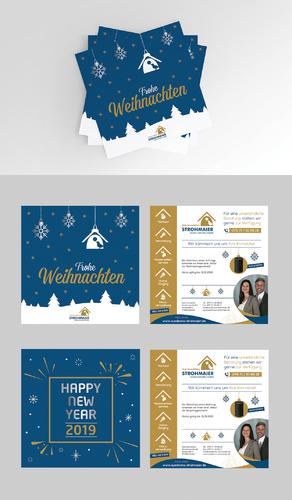 Weihnachtskarte und Silvesterkarte für Immobilienmakler