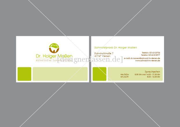 Visitenkarten Für Zahnarztpraxis Visitenkarten Design