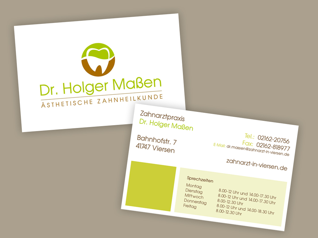 Visitenkarten Für Zahnarztpraxis Business Card Design