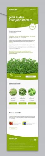 Newsletter Design Für Garten Samen Shop Newsletter Design
