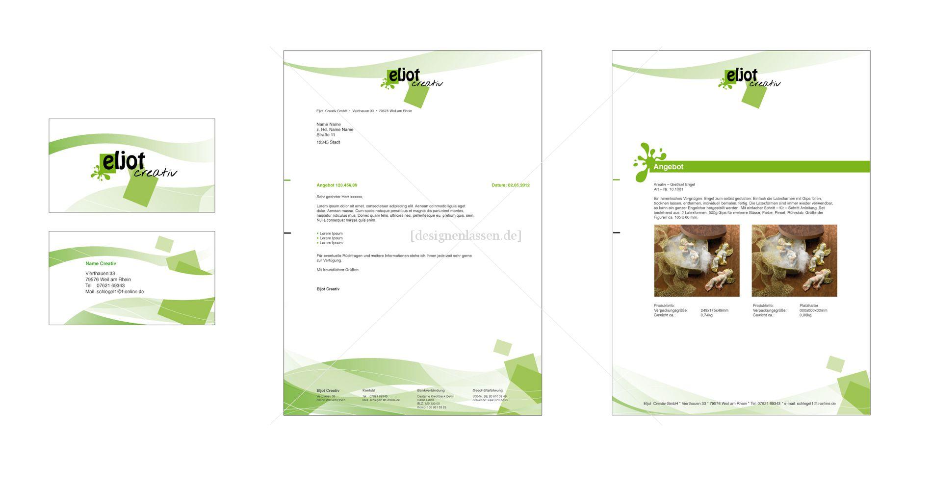 Briefpapier Visitenkarte Und Master Für Angebot Visitenkarten