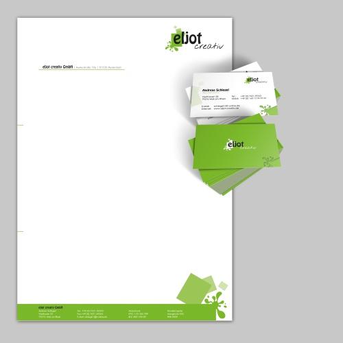 Briefpapier, Visitenkarte und Master für Angebotsunterlagen für Kreativ-Firma