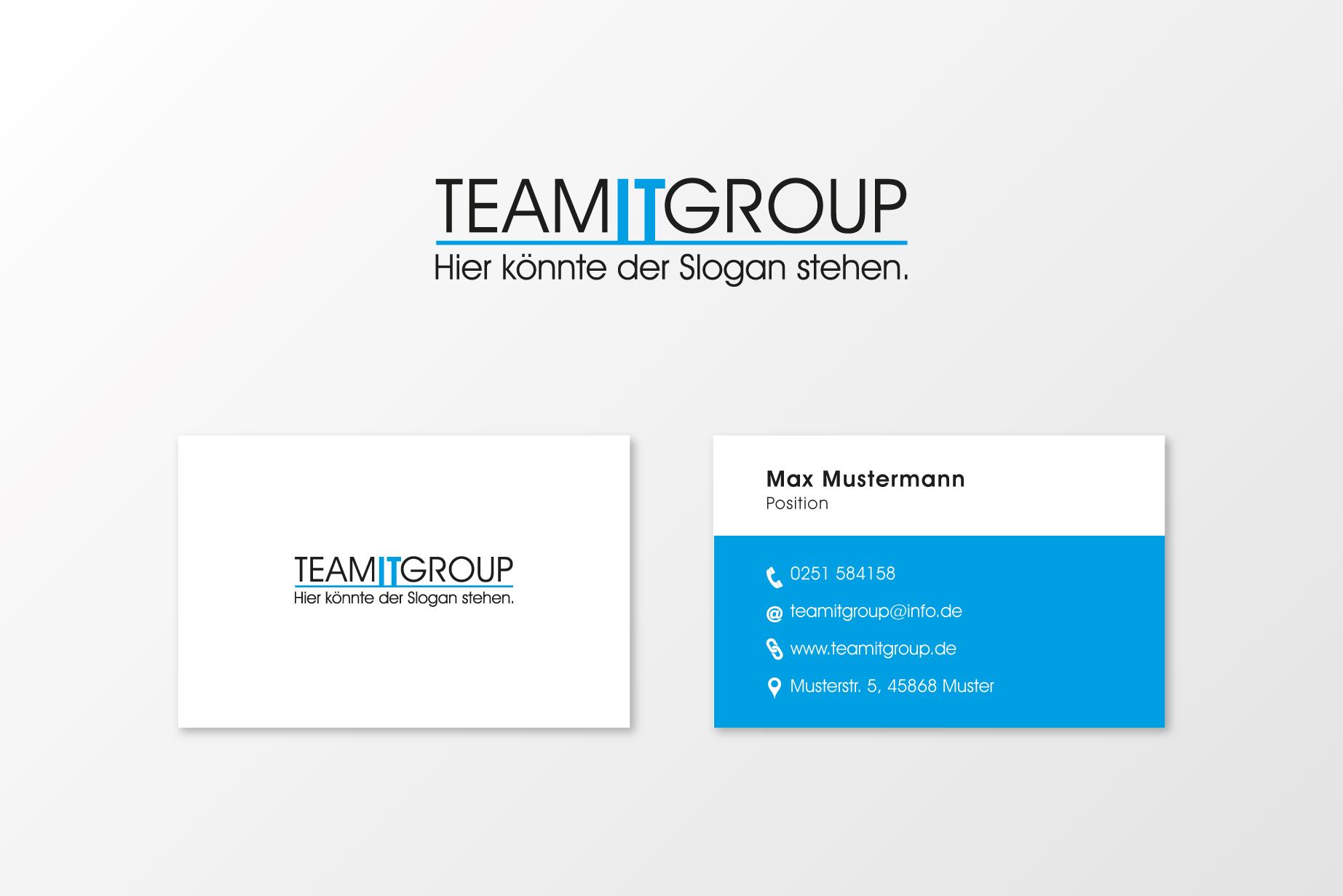 Logo Visitenkarte Fur Die Team It Group Gmbh Logo Visitenkarte