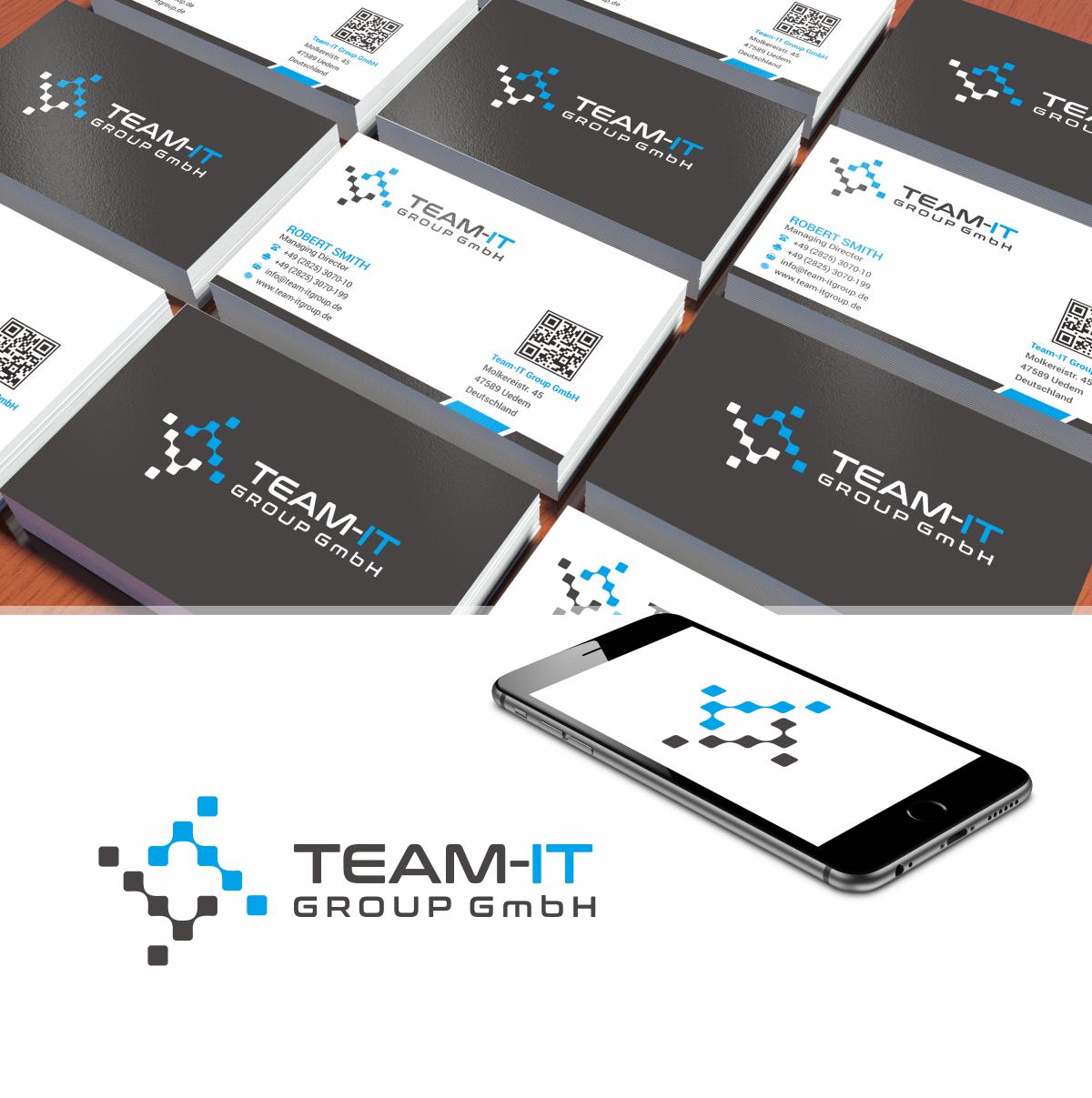 Logo Visitenkarte Für Die Team It Group Gmbh Logo