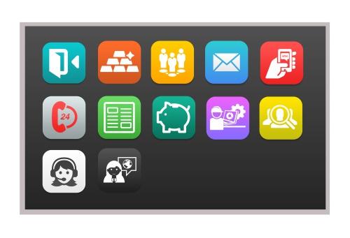 Icon-Design für Dienstplan eines Medienbetriebs