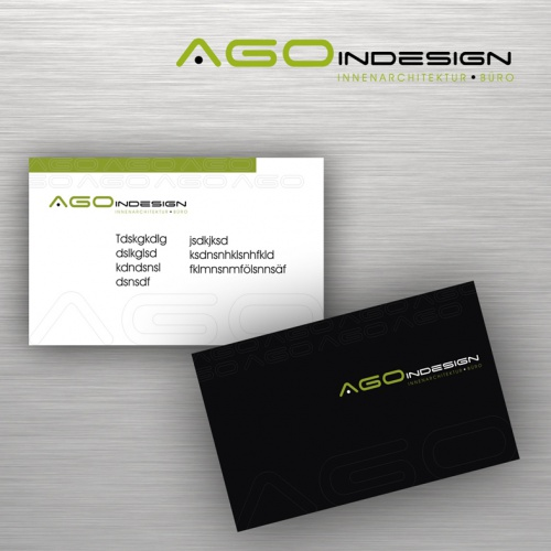 Logo-Design / Visitenkarte für AGO InDesign Innenarchitektur-Büro