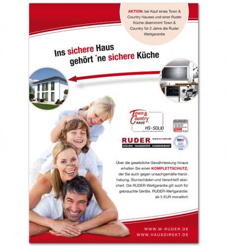 Küchen Ruder kooperation ruder küchen town count flyer design