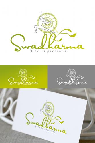 Swadharma sucht Schrift und Bildlogo