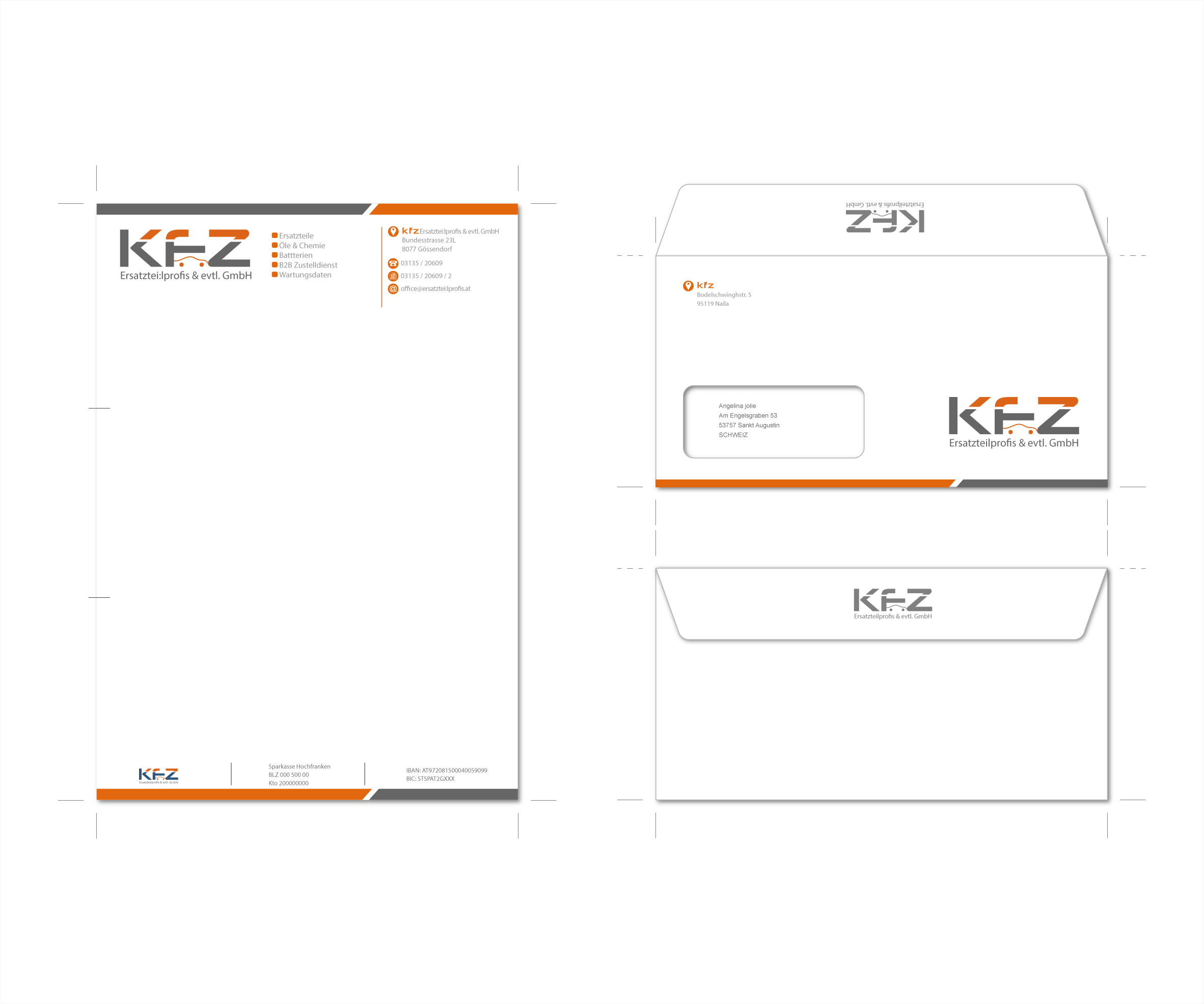 Logo Und Briefpapier Visitenkarten Für Einen K Logo