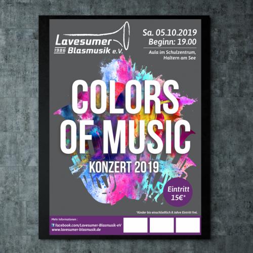 Plakat-Design für Blasmusik Konzert