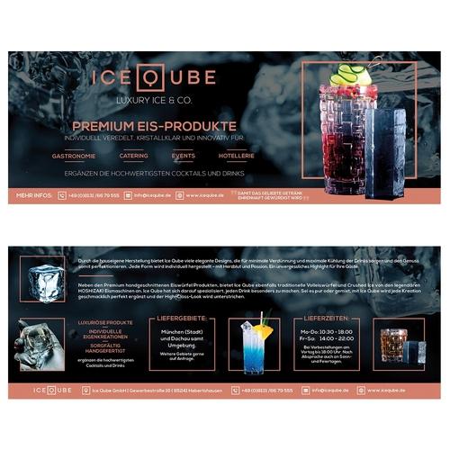Flyer-Design für Hersteller & Lieferant von Premium Eis-Produkten