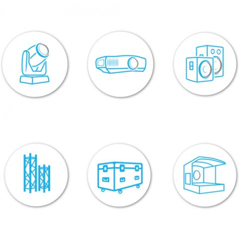 Icon-Design für Second Hand Veranstaltungstechnik