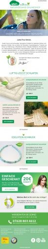Newsletter-Design für Online-Versandhandel