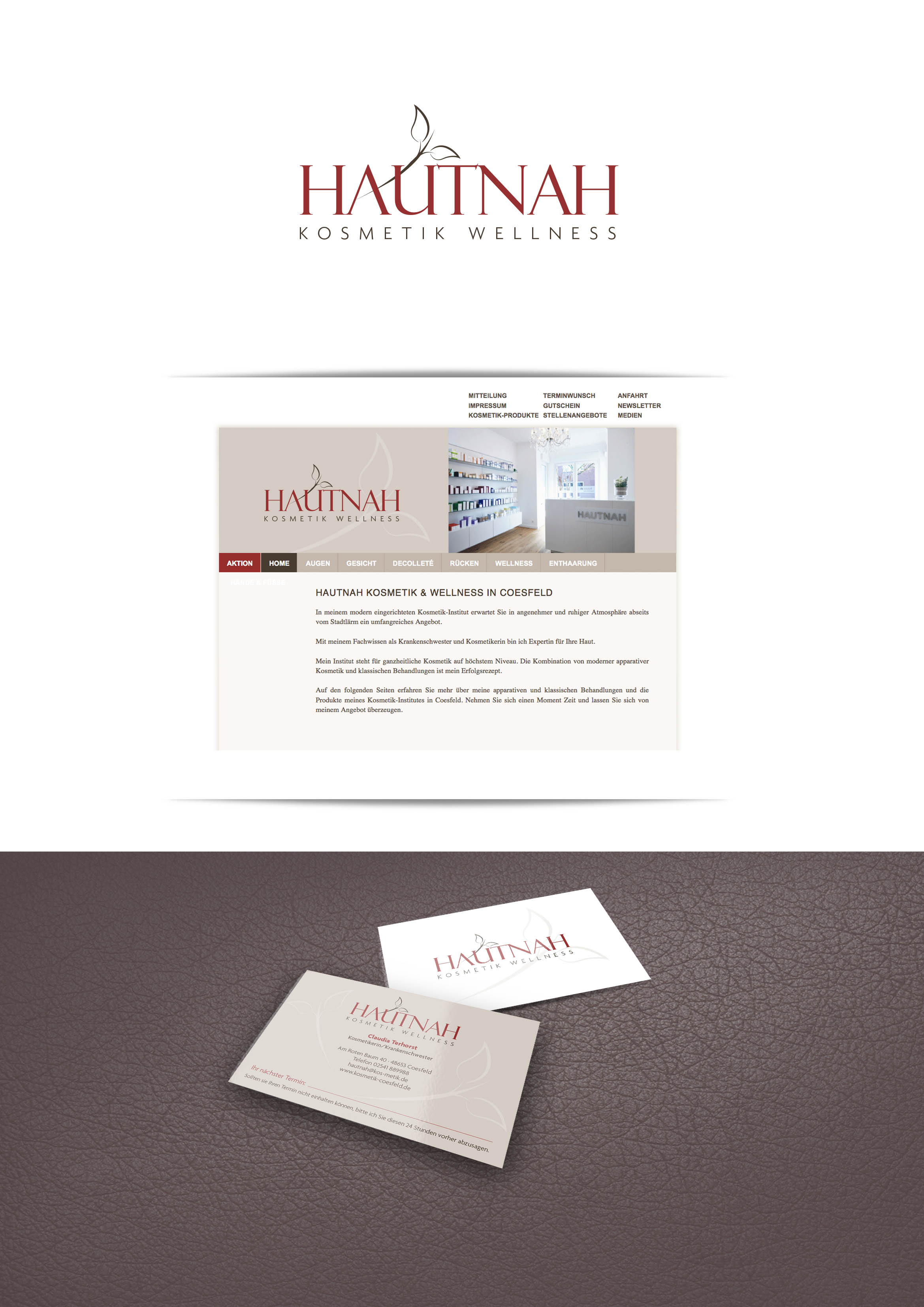 Firmen Logo Und Visitenkarte Mit Terminkarte Rü Logo