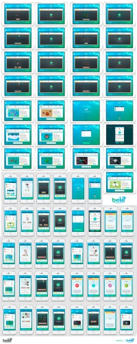 Draft of Logos and App-Layout/Design of an elementary-learning-App