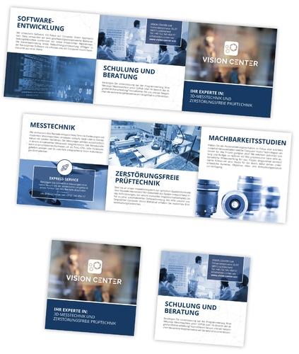 Flyer-Design für Unternehmen mit Fokus auf 3D-Messtechnik