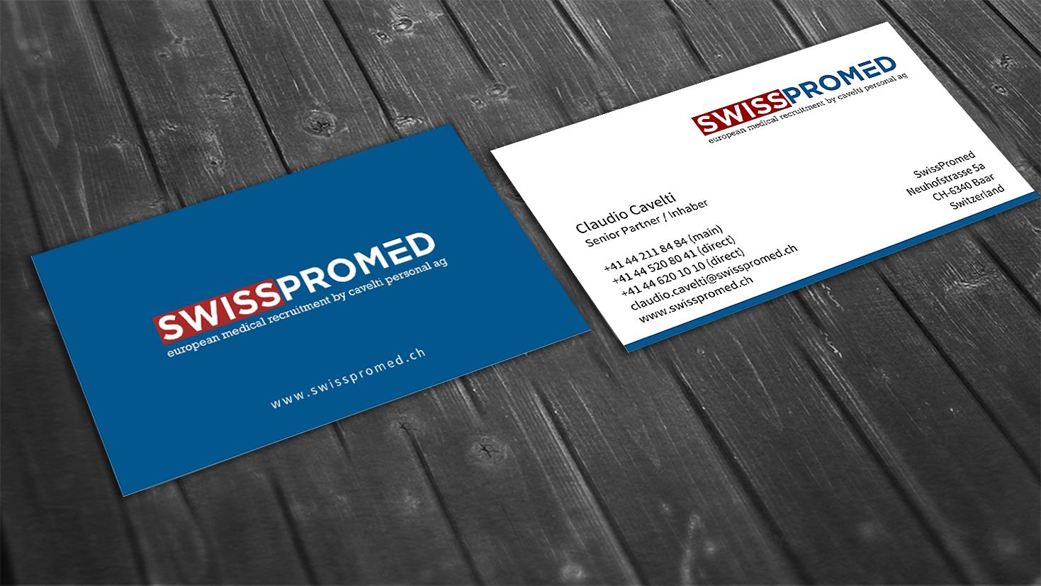 Swisspromed Visitenkarte Visitenkarten Design