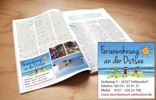 Druckvorlage für Werbeanzeige einer Ferienwohnung gesucht.