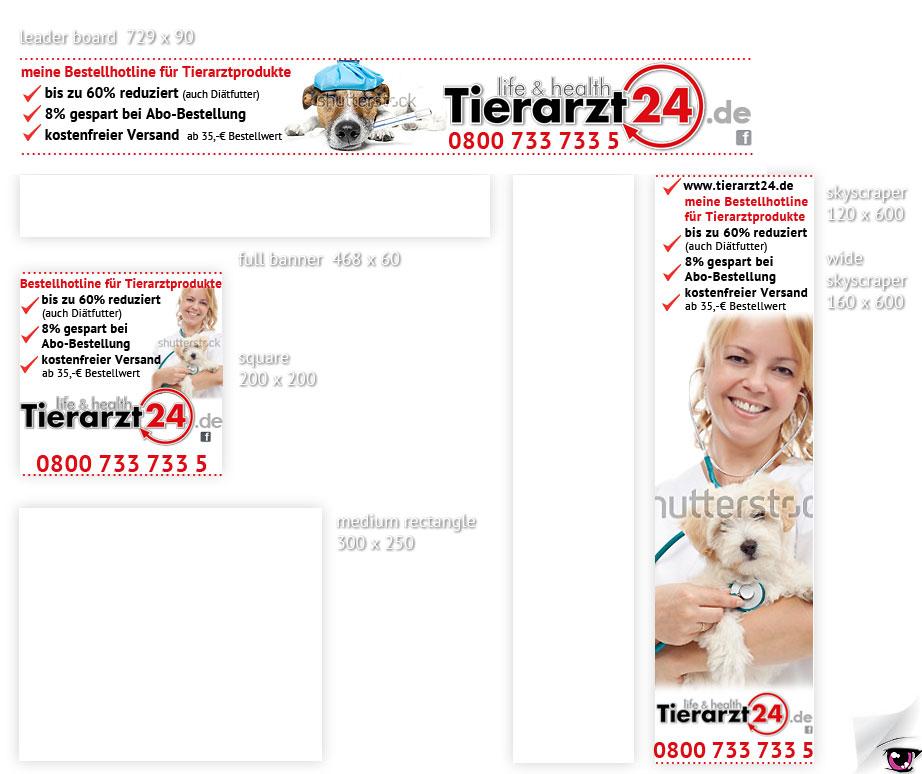 Werbebanner für tierarzt24.de