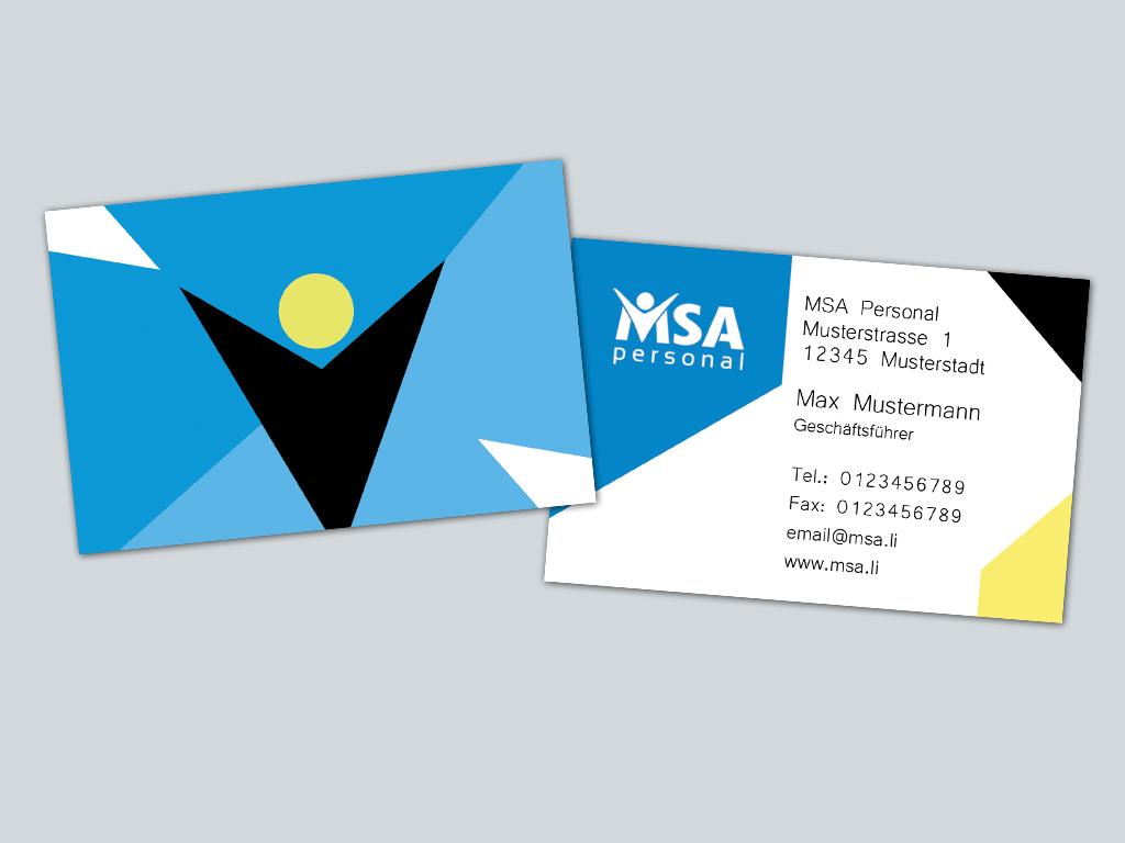 Msa Personal Sucht Visitenkarten U Briefpapier