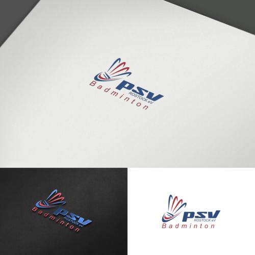 Logo-Design für Badmintonspieler