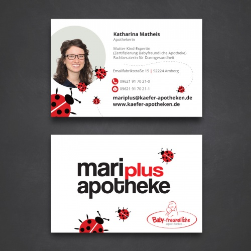 Visitenkarten-Design für Familienunternehmen (Apotheke)