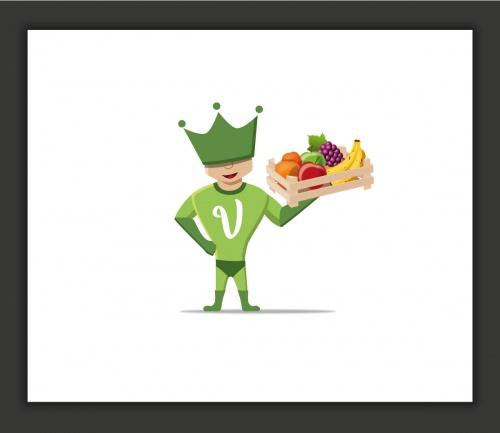 Illustrationen: Vitaminheld gesucht! Vitaminhelden liefern frisches Obst zum Wunschtermin