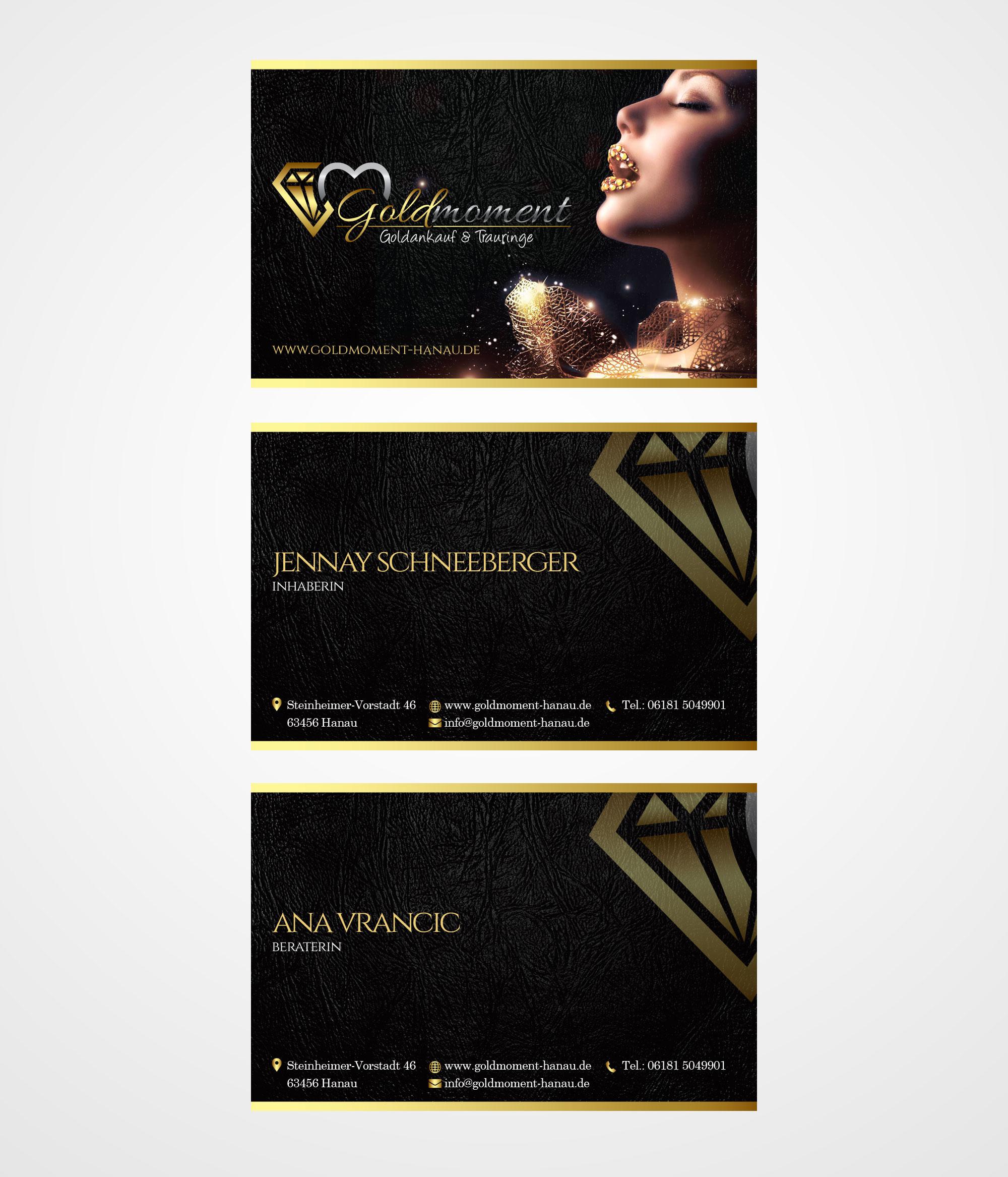 Visitenkarten Design Für Goldankauf Und Verkauf
