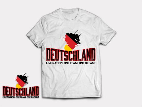 T-Shirt für Fußballfans der Deutschen Nationalmanschaft