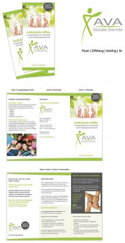 Flyer-Design für Träger der Familienhilfe