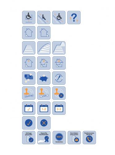 Icon-Set für Treppenlift Anfrageformular » Icon design ...