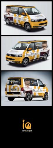 Fahrzeugbeschriftung für VW BUS lernfabriQ.de