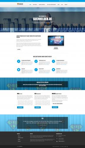 SEO Agency www.suchhelden.de - website moet worden vernieuwd (start en onder)